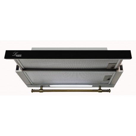 Вытяжка Luxor Concord Black Kup Glass 2M LED + гофротруба в комплекте