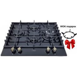 Варочная поверхность газовая Luxor RG 650 BGL KUP + подставка Wok в подарок