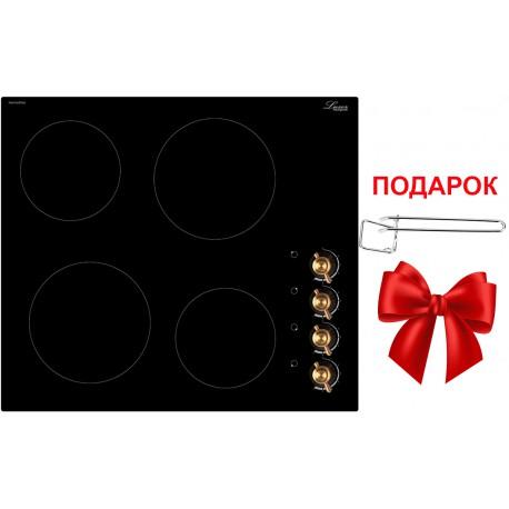 Варочная поверхность электрическая Luxor RM 640 SS BE + фирменная прихватка в подарок