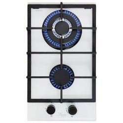 Варочная поверхность газовая Luxor PGM 320 Black Ultra White + подставка Wok в подарок