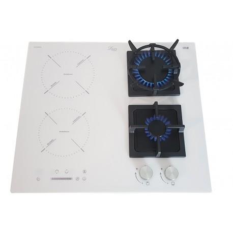 Варочная поверхность комбинированная Luxor GI 67 Wh SS + подставка Wok в подарок