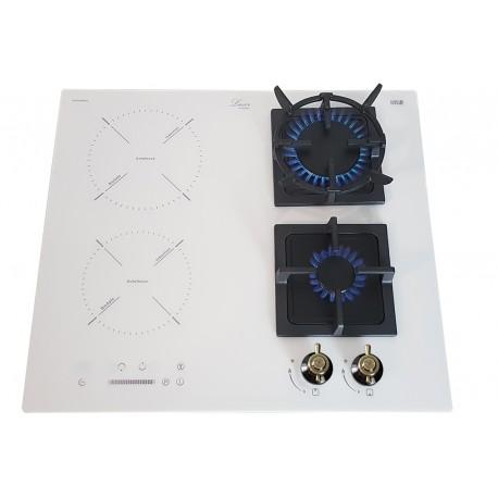 Варочная поверхность комбинированная Luxor  GI 67 Wh Kup + подставка Wok в подарок