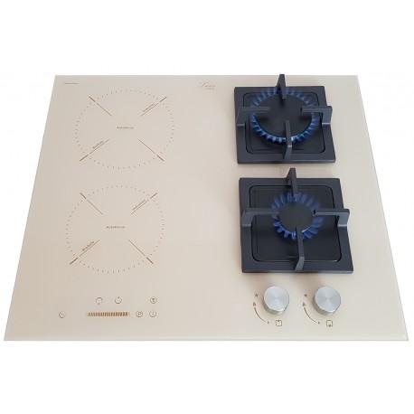 Варочная поверхность комбинированная Luxor Exclusive GI 67 BG SS + подставка Wok в подарок