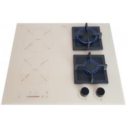 Варочная поверхность комбинированная Luxor Exclusive GI 67 BG BK + подставка Wok в подарок