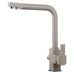 Смеситель для кухни с подключением к фильтру Luxor Mercury Beige Granit 3D Prof