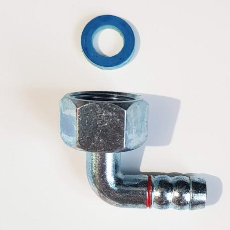 Уголок 1/2 для газової плити під хомут + ущільнювач