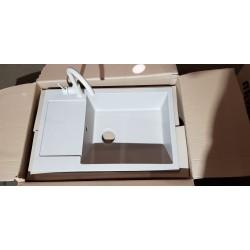 Гранитная кухонная мойка Luxor Maienblute BG 78 x 50 + сифон, перелив, горловина в комплекте